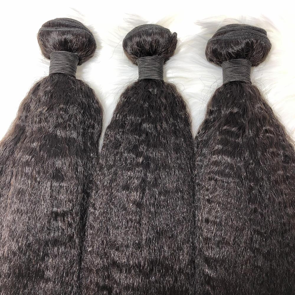 Super high feedback virgin yaki straight human hair weave extension